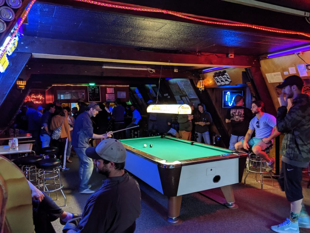 free pool table at the teepee bar